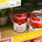 Campbells chicken noodle soup can lot